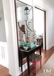 Entry Console Table With Mirror Foyer Console Table In Front Of Floor Full Mirror Pink And