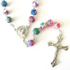 catholic rosary free beautiful catholic colorful rosary christian catholic shop