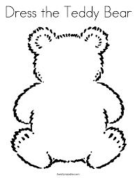 dress teddy bear coloring twisty noodle