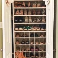Hallway Shoe Storage Cabinet Two Layer Clear Coating Wooden Rack For Shoe Organizer With