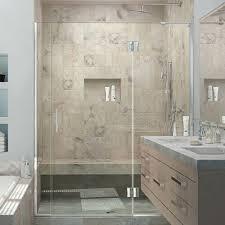 Infold Shower Door Dreamline Butterfly 34 In To 35 1 2 In X 72 In Semi Frameless