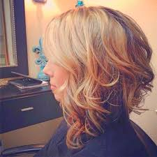 how to stlye a stacked bob with wavy hair stacked bob long wavy asymmetrical bob haircut for women