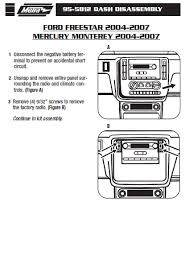2004 freestar radio wiring diagram ford focus radio wiring diagram