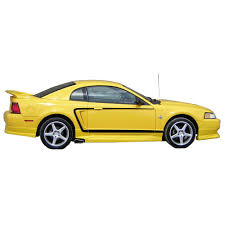 Yellow Mustang With Black Stripes Graphic Express N563 Nd Bk Mustang C Stripe Black