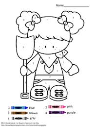 coloring pages farm color by numbers coloring pages children