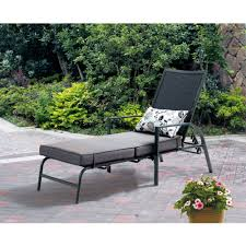 Patio Furniture Lounge Chair Mainstays Forest Hills Chaise Lounge Walmart Com