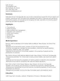 Health Care Resume Sample by Professional Clinical Trial Associate Templates To Showcase Your