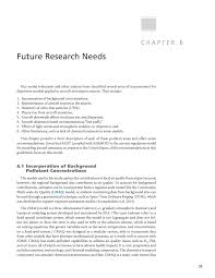chapter 6 future research needs dispersion modeling guidance