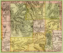 Wy Map 1888 Rand Mcnally Map Of Wyoming