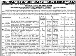 Allahabad High Court Lucknow Bench Judges Allahabad High Court Recruitment 2017 Latest Jobs Vacancies