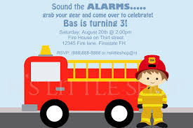 firefighter birthday invitation car zen u0027s 4th birthday