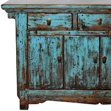 Chinese Credenza Antique Chinese Rustic Turquoise Credenza Chairish