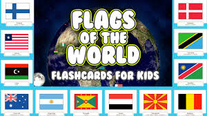 Flags Countries Learn 190 Country Flags For Kids With Flashcards Youtube