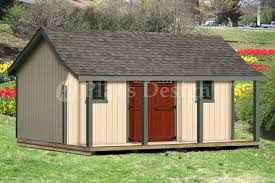 16x20 ft guest house storage shed with porch plans p81620 free