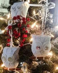 glitter owl ornament set west elm what a hoot