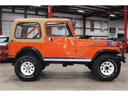 orange jeep cj 1984 jeep cj7 for sale classiccars com cc 989589