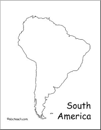map of and south america black and white map south america outline abcteach