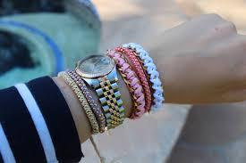 diy bracelet with chain images Diy triple ball chain bracelet the stripe jpg