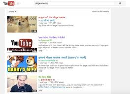 Doge Meme Youtube - the best google easter eggs hidden in plain sight pictures