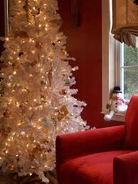 purple rustic red and white christmas tree with deco mesh ration