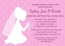 communion invitations for girl holy communion religious girl invitations religious
