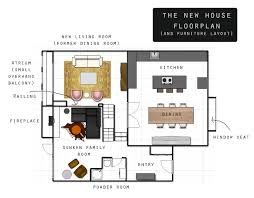 Fireplace Floor Plan Plans For The New House Floor Plans And Furniture Brownie