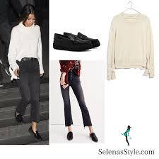 selena gomez sweater selena gomez sweater and black joins justin bieber at