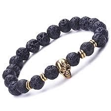 mens skull bracelet images Infinite u cool unisex womens mens skull bracelet 9mm beads wrist jpg
