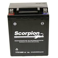 ytx14ah bs battery scorpion 12 volt motorcycle batteries