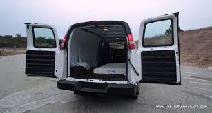 2012 gmc savanna 3500 diesel cargo van exterior side doors open