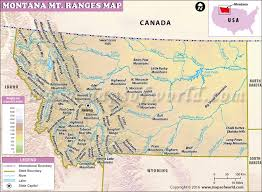 montana maps montana mountain ranges map list of mountains in montana
