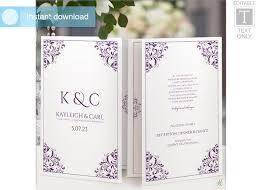 Booklet Wedding Programs Wedding Program Template Foldover Booklet 2558579 Weddbook