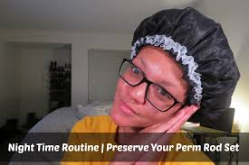aleeping in petm rods perm rod set night time routine youtube