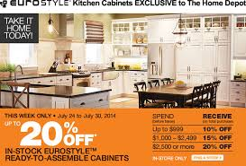 kitchen cabinet home depot canada the home depot canada sale save up to 20 eurostyle