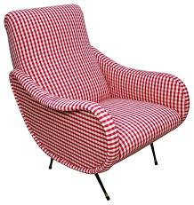 Retro Accent Chair Retro Gingham Armchair Contemporary Armchairs And Accent