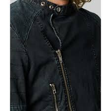 denim motorcycle jacket denim u0026 supply ralph lauren motorcycle jacket in black for men lyst
