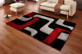 casamode functional furniture regina black red gray area rug