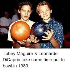 Meme Tobey Maguire - tobey maguire leonardo dicaprio take some time out to bowl in