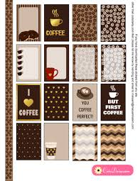 Coffee Planner Stickers Printable | free printable coffee themed planner stickers for happy planner