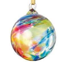 blown rainbow facet glass ornament glass eye studio