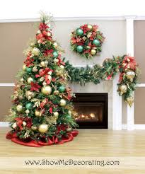 white christmas tree with red and green decorations u2013 happy holidays