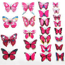 diy 3d butterfly wall stickers design decal room decor home