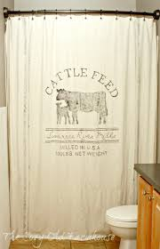 Flower Drop Shower Curtain Farmhouse Bathroom Update Ideas On A Budget Grain Sack Cozy