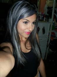 black grey hair grey hair with black highlights images hair extension hair