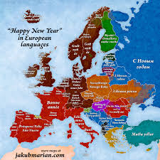 Happy Maps Happy New Year U0027 In European Languages