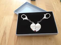 wedding gift personalised engraved personalised silver plated joining heart keyring wedding