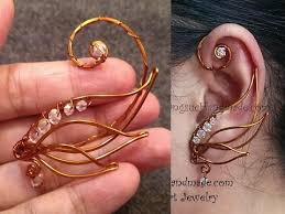 how to make ear cuffs angel wing ear cuff wire wrap jewelry design 71