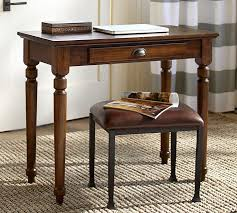 Antique Writing Table Printers Writing Desk Small Tuscan Chestnut Pottery Barn Within