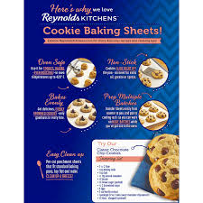 How To Bake Cookies In A Toaster Oven Amazon Com Reynolds Kitchens Cookie Baking Sheets Parchment Paper