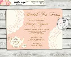 wedding luncheon invitations tea party bridal shower invitation high tea invitation tea
